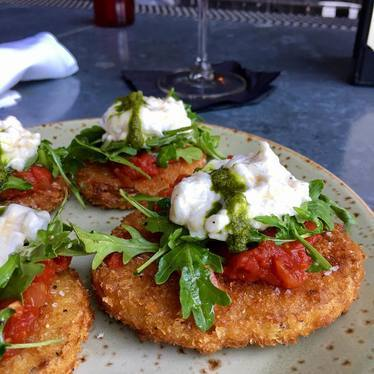 Fried green tomatoes  at Bankers Hill Bar & Restaurant