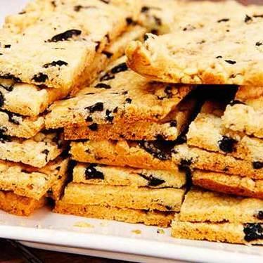 Cured olive cookie at Abraço