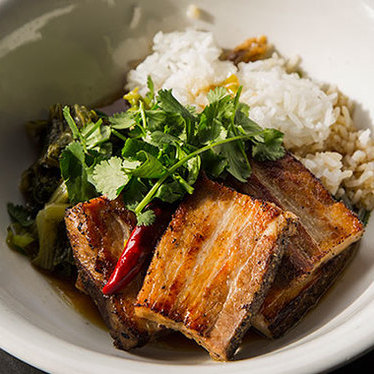 24-hour pork belly at Hawker Fare
