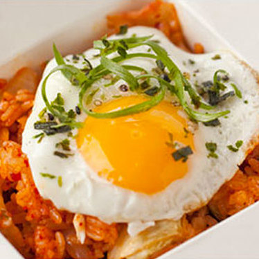 Kimchi rice bowl at Marination Station