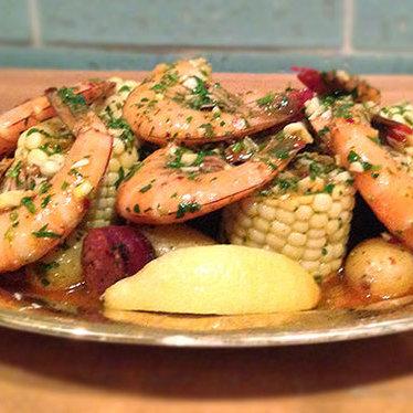 NOLA-style shrimp boil at The Hart + The Hunter