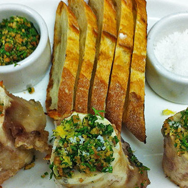 Roasted bone marrow at Eastern Standard