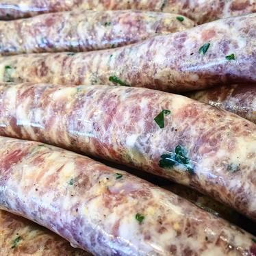 Rabbit sausages at The Butcher & Larder