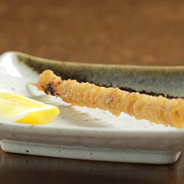 Chicken skin w/ sudachi salt & lemon at Nojo Ramen Tavern