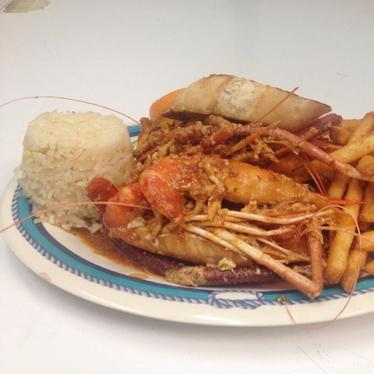 Jumbo shrimp at Veneno de Nayarit