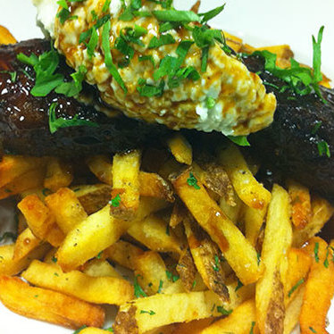 Steak frites at Franklin Cafe