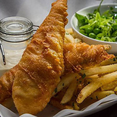 Fish & chips at The Cavalier