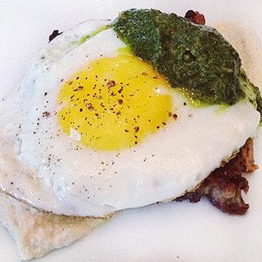 Green eggs & lamb at Beast Restaurant