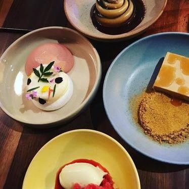 Dessert plates at Elske