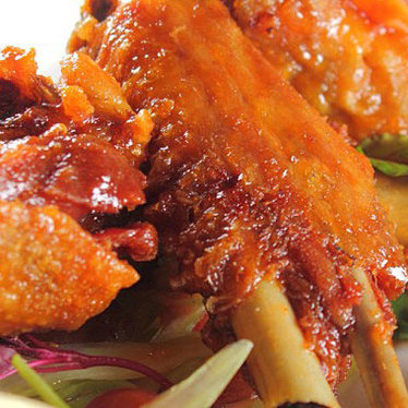 Sticky Buffalo Chappapeela Farms duck wings at Emeril's New Orleans