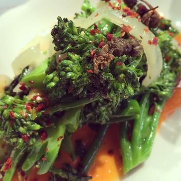 Broccolini and salsa rosa at Bar Primi
