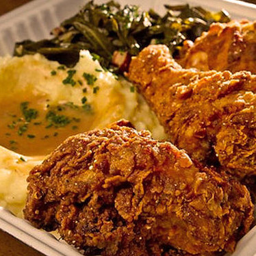 Fried chicken at The Front Porch