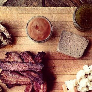Pork liver pâté at Contigo Austin