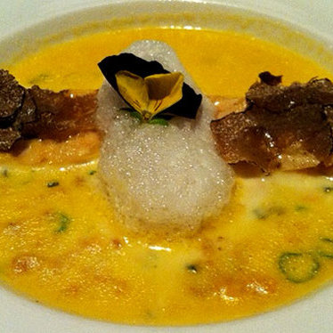 Uni soup at Oishii Boston