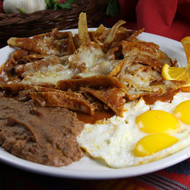 Chilaquiles w/ chicken at Jalisco Cafe