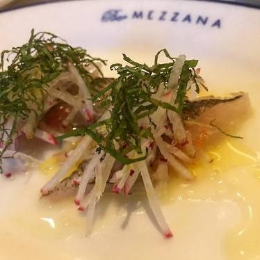 Crudo with radish at Bar Mezzana