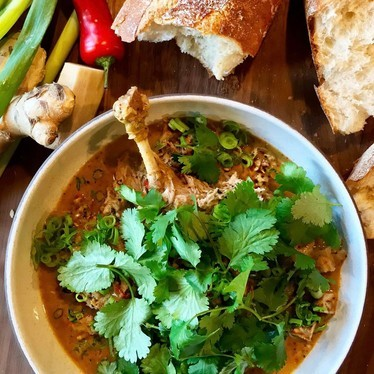 Vietnamese flavored Duck Curry at Departure