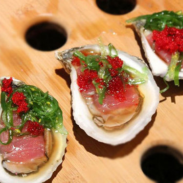 South Bay blonde oyster & tuna sashimi  at Summer Shack