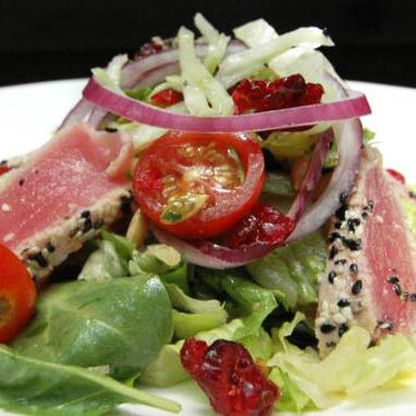 Seared ahi salad  at Fat Fish Cantina Grill