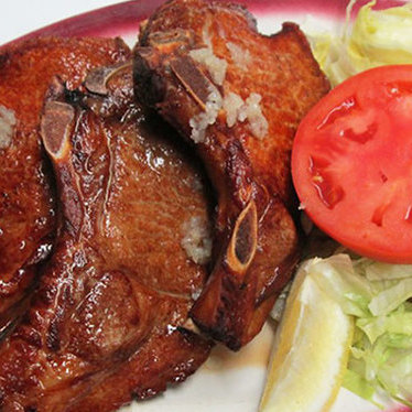 Fried pork chops at La Caridad 78