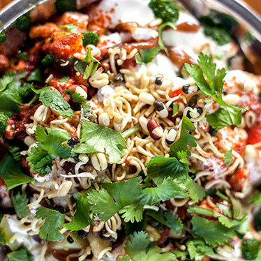 Dahi papri chaat at Bollywood Theater