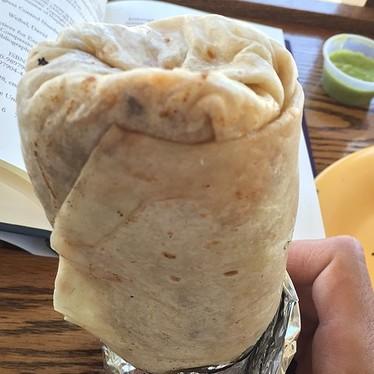 Al pastor burrito at Taqueria Guadalajara