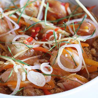 Saeng-wah salad at Kin Khao