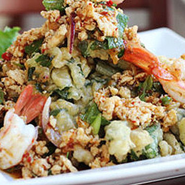 Crispy onchoy salad at Andy's Thai Kitchen