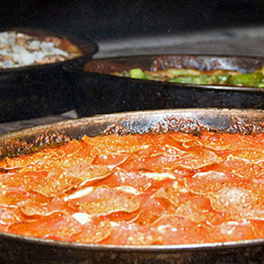 Pepperoni pan pizza at Pequod's Pizza
