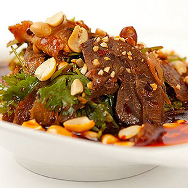Beef tendon and tripe in chile sauce at Peter Chang's Tasty China