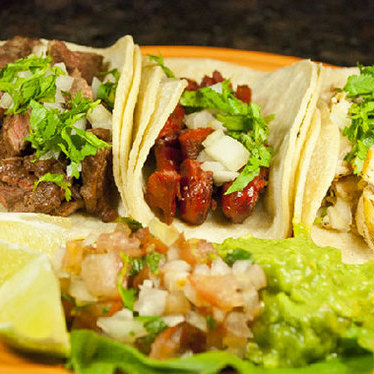 Barbacoa tacos at Las Margaritas Restaurant