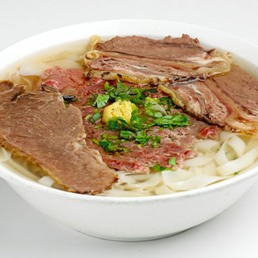 Phở tái chín at Turtle Tower Restaurant