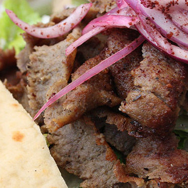 Lamb shawerma plate at Oasis Food Market