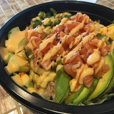 Salmon poke bowl. at Fast Furious