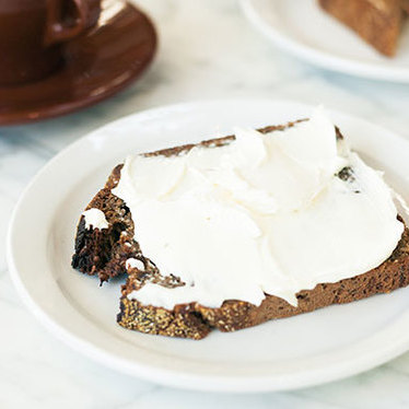 Rye toast w/ cream cheese at The Mill