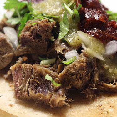 Lengua tacos at La Luna Market & Taqueria