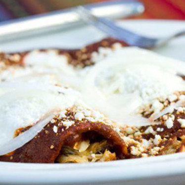 Chicken mole enchiladas at El Molino Central