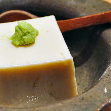 Homemade tofu at Mori Sushi