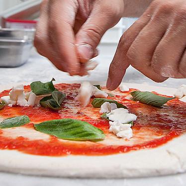 Margherita Pizza at Del Popolo Truck