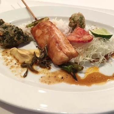 Redfish Yakitori with Japanese anchovies at Emeril's New Orleans