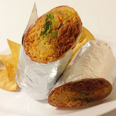 Spicy pork kimchee burrito at HRD Coffee Shop