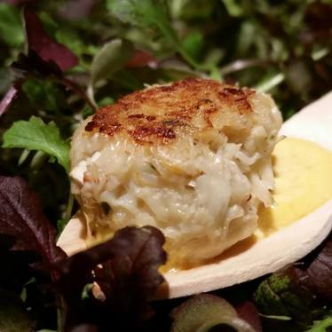 Dungeness crab cakes at One Market Restaurant