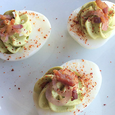 Deviled eggs at Torc