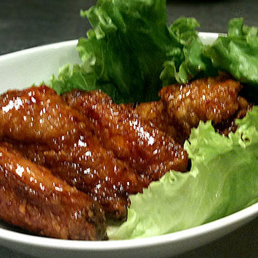 Korean barbecue fried chicken  at Mandu