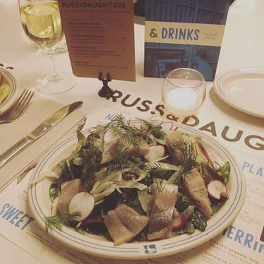 Herring salad at Russ & Daughters Café