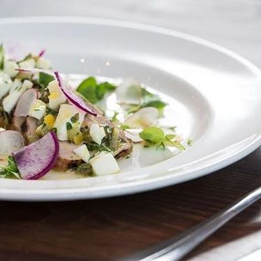 Spring salad with purple radish at The Kitchen