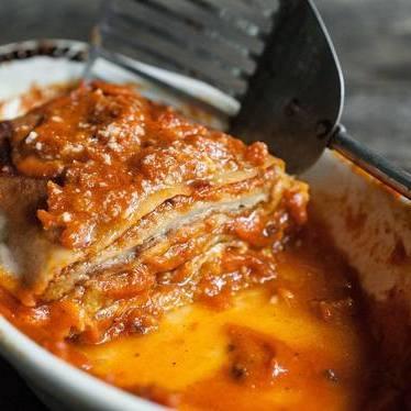 Eggplant parmesan at Paulie's Restaurant