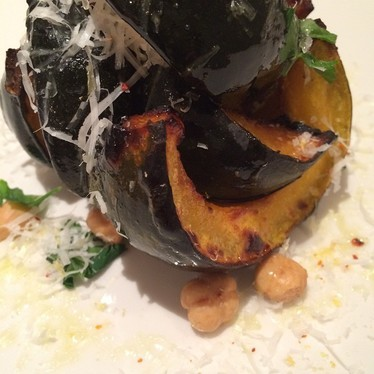 Roasted pumpkin and hazelnuts at The Little Beet Table