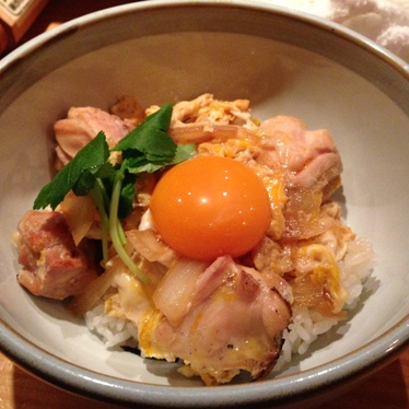 Special oyakodon at Tori Shin