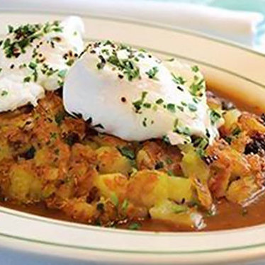 Roast beef hash at Smith & Wollensky